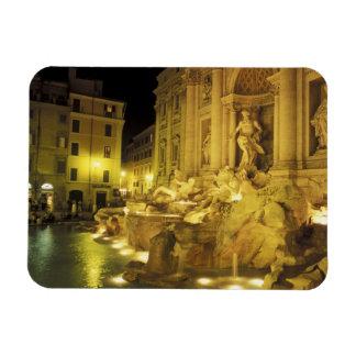 Italy, Rome. Trevi Fountain at night. Rectangular Photo Magnet