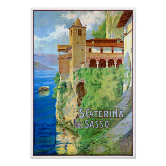 Italy Santa Caterina del Sasso Vintage Poster