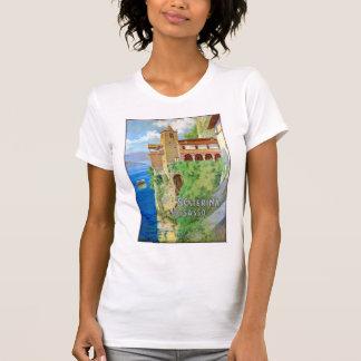 Italy Santa Caterina del Sasso Vintage Poster T-Shirt