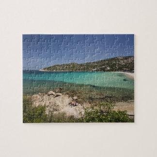 Italy, Sardinia, Baja Sardinia. Resort beach. Puzzle