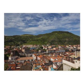 Italy, Sardinia, Bosa. Town view from Castello 2 Postcard