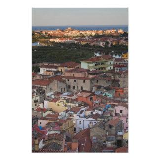 Italy, Sardinia, Bosa. Town view from Castello Photo