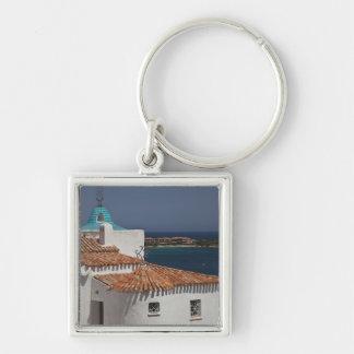 Italy, Sardinia, Porto Cervo. Chiesa di Stella Silver-Colored Square Key Ring