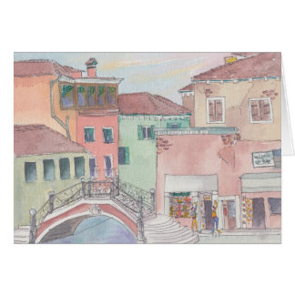"""Italy/Shopping"" Watercolor Sketch Greeting Card"