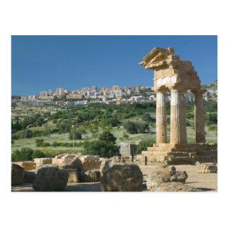 Italy Sicily Agrigento La Valle dei Templi Post Card