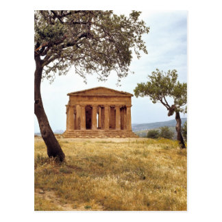 Italy, Sicily, Agrigento. The ruins of the 2 Postcard