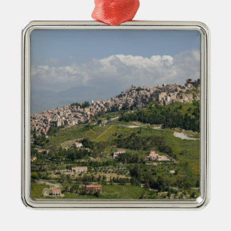 Italy, Sicily, Enna, Calascibetta, Morning View Metal Ornament