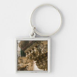 ITALY, Sicily, NOTO: Finest Baroque Town in Silver-Colored Square Key Ring