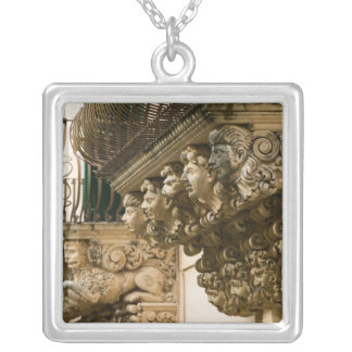 ITALY, Sicily, NOTO: Finest Baroque Town in Square Pendant Necklace