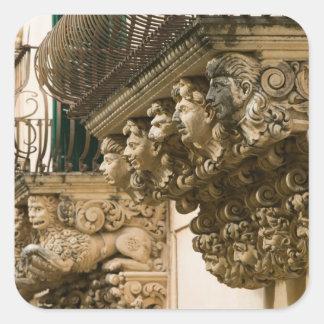 ITALY, Sicily, NOTO: Finest Baroque Town in Square Sticker