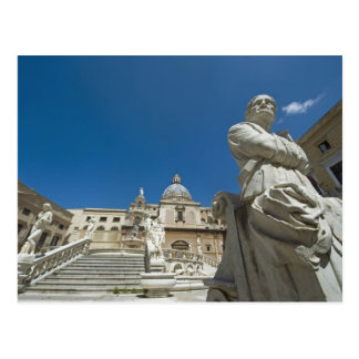 Italy, Sicily, Palermo, fountain with bust and Postcard