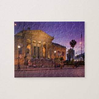 Italy, Sicily, Palermo, Teatro Massimo Opera Jigsaw Puzzle