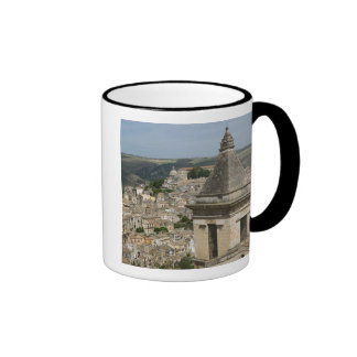 ITALY, Sicily, RAGUSA IBLA: Town View and Santa Ringer Mug