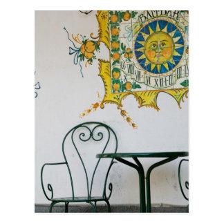 ITALY, Sicily, TAORMINA: Bam, Bar Cafe Detail Postcard