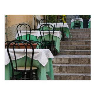 ITALY Sicily TAORMINA Corso Umberto 1 Cafe Post Card