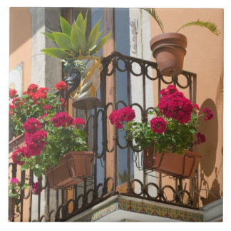 ITALY, Sicily, TAORMINA: Corso Umberto 1, Ceramic Tile