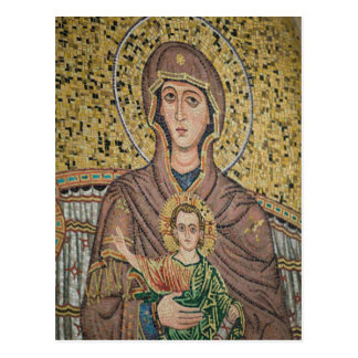 ITALY, Sicily, TAORMINA: Corso Umberto 1, Mosaic Postcard