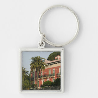ITALY, Sicily, TAORMINA: Hotel Schuler Silver-Colored Square Key Ring