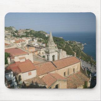 ITALY, Sicily, TAORMINA: View towards Piazza IX Mouse Pad