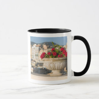 Italy, Sicily, Termini Imerese, View & Flowers Mug