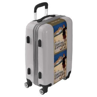 Italy Skiing custom name luggage