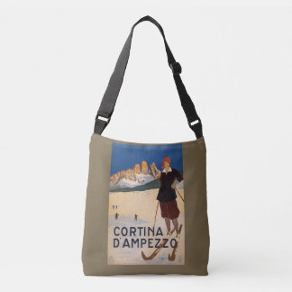 Italy Skiing vintage travel bags Tote Bag