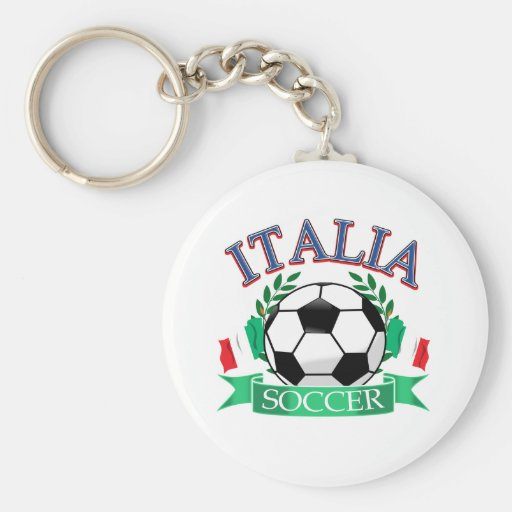 Italy soccer ball designs key chains