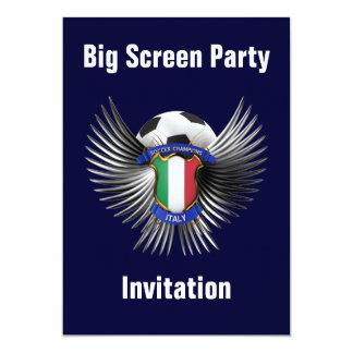 Italy Soccer Champions 13 Cm X 18 Cm Invitation Card