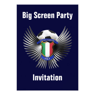Italy Soccer Champions Personalized Announcement