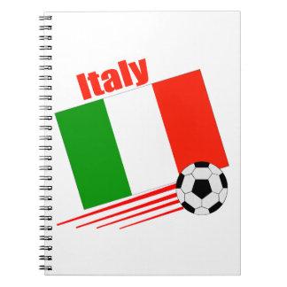 Italy Soccer Team Notebook