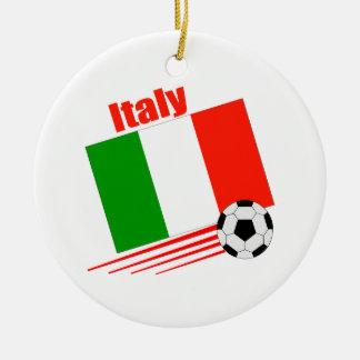 Italy Soccer Team Round Ceramic Decoration