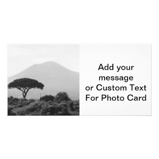 Italy Souvenir from Mount Vesuvius Volcano Photo Greeting Card