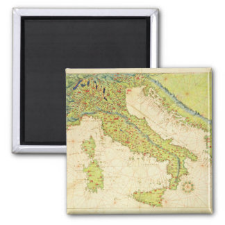 Italy Square Magnet