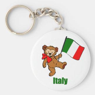 Italy Teddy Bear Key Chains