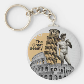 Italy, The Great Beauty Basic Round Button Key Ring