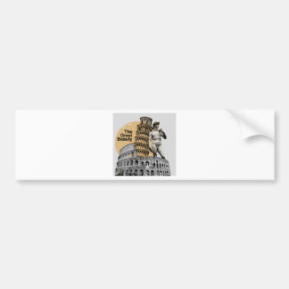 Italy, The Great Beauty Bumper Sticker