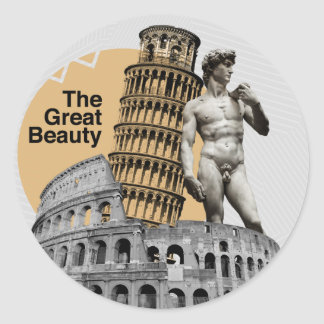 Italy, The Great Beauty Classic Round Sticker