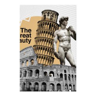 Italy, The Great Beauty Customized Stationery