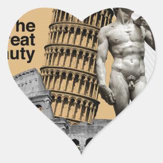Italy, The Great Beauty Heart Sticker