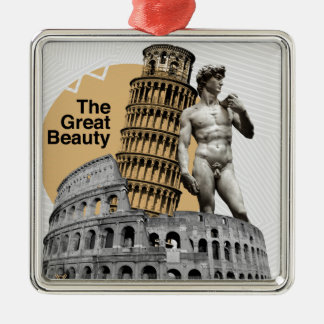 Italy, The Great Beauty Metal Ornament
