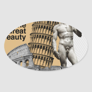 Italy, The Great Beauty Oval Sticker
