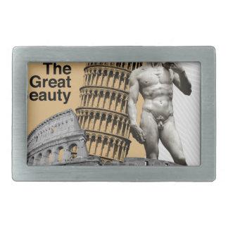 Italy, The Great Beauty Rectangular Belt Buckles