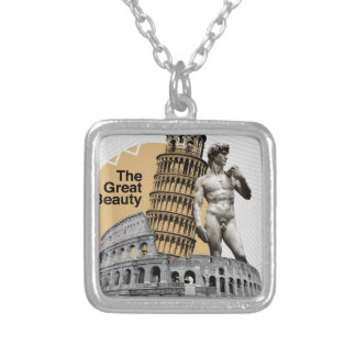 Italy, The Great Beauty Silver Plated Necklace