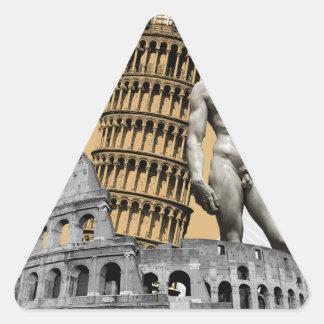 Italy, The Great Beauty Triangle Sticker