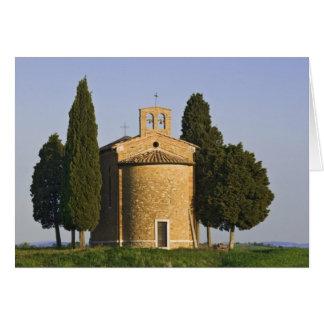 Italy, Tuscany. Close-up of Chapel of Vitaleta Card