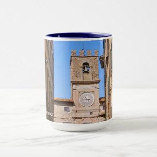 Italy Tuscany Cortona. Town Hall. Mug
