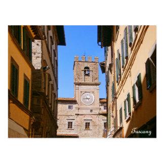 Italy Tuscany Cortona. Town Hall. Postcard
