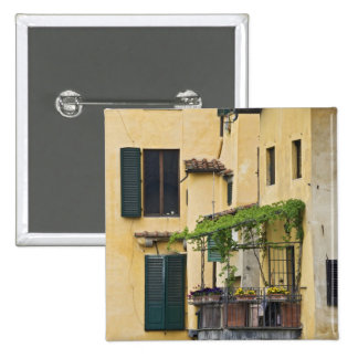 Italy, Tuscany, Florence. Balcony and 15 Cm Square Badge