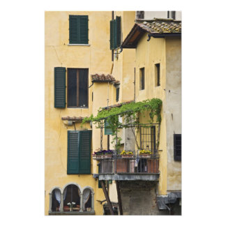 Italy, Tuscany, Florence. Balcony and Photo Print