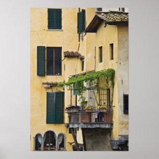 Italy, Tuscany, Florence. Balcony and Poster